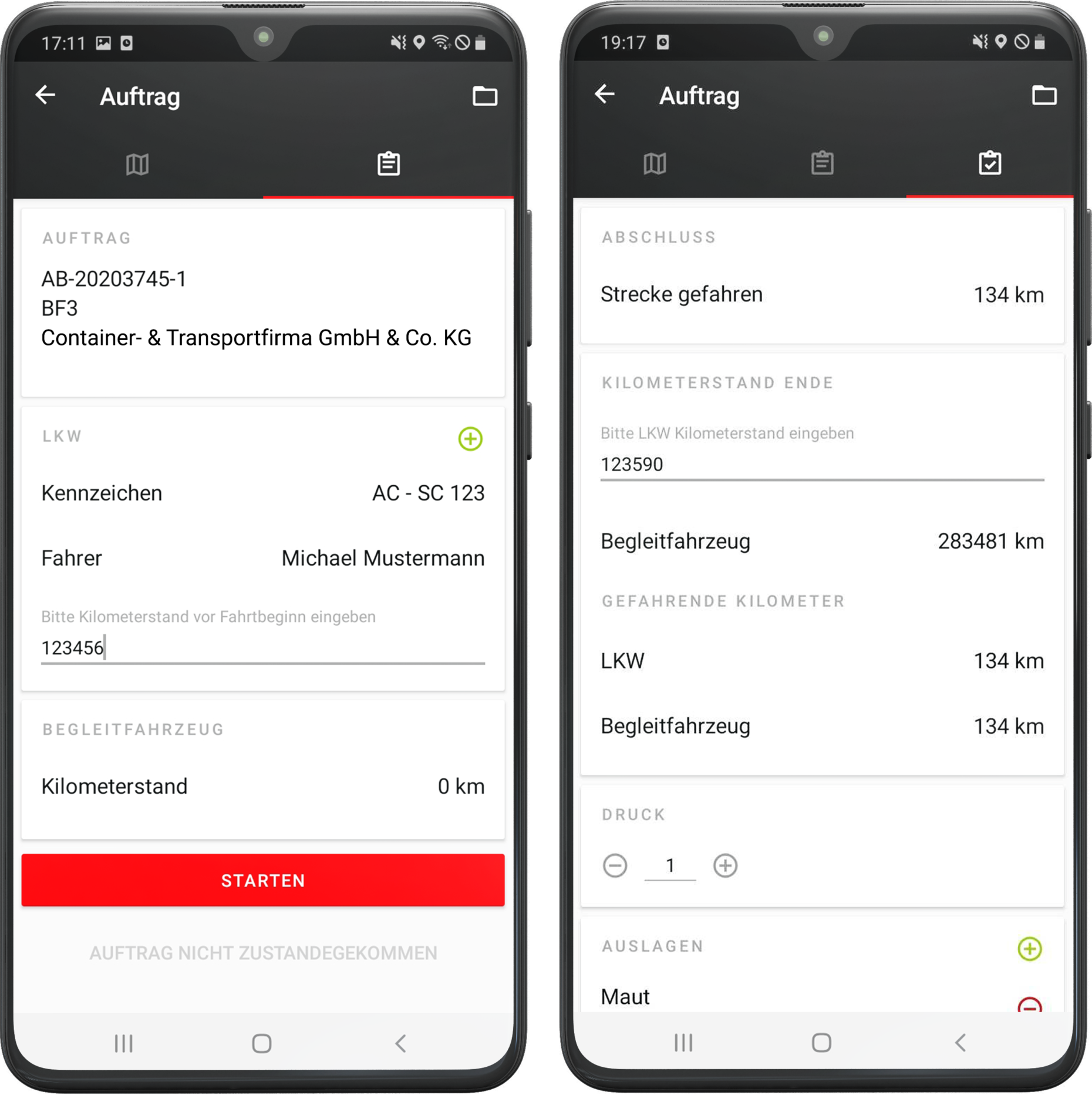 Transportbegleitung Android App