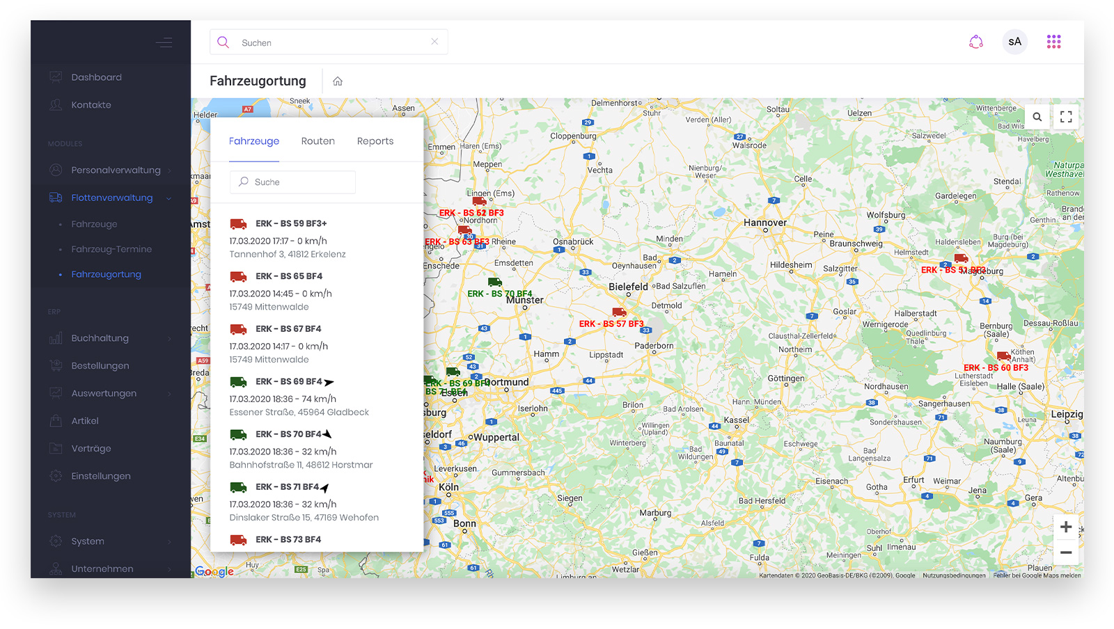 Borgs & Schwarz – Transport-Monitoring